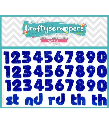 GLITTER-NUMBERS-STICKER-NAVY BLUE