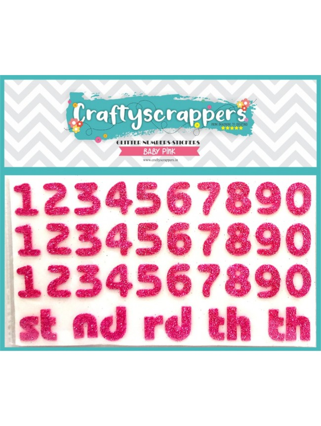 GLITTER-NUMBERS-STICKER-BABY PINK