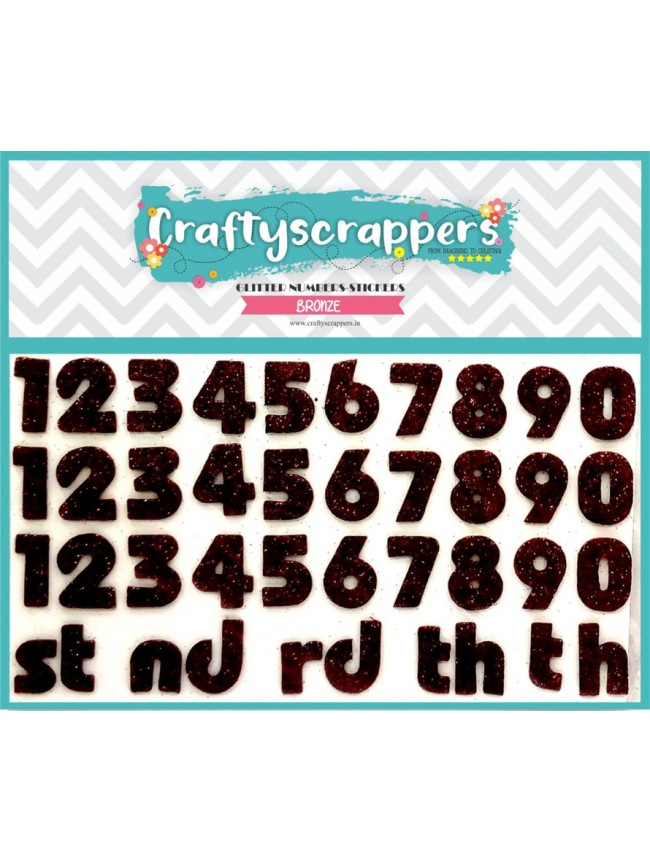GLITTER-NUMBERS-STICKER-BRONZE