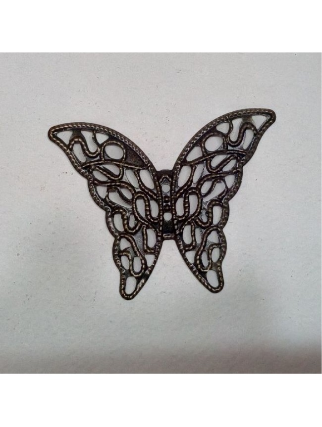 Metal charm- butterfly filigree