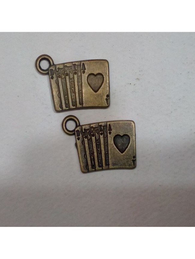 Metal charm-cards