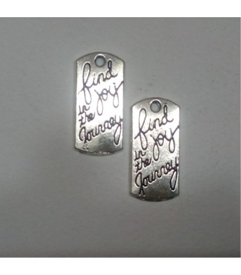 Metal charm-written tag