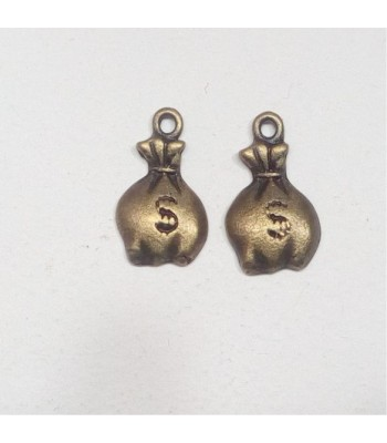 Metal charm-money bag