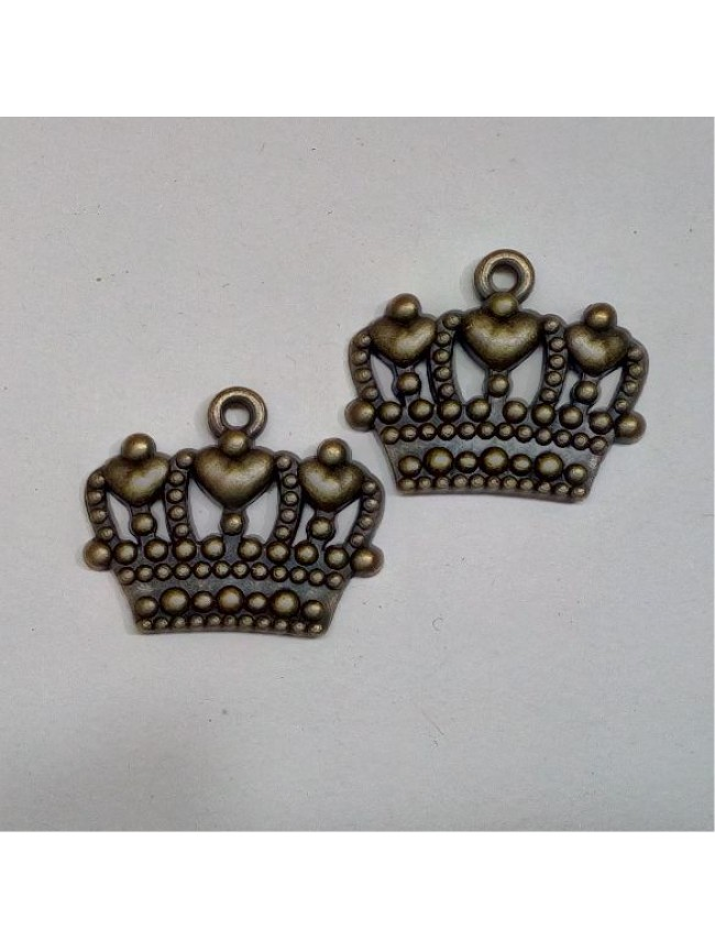 Metal charm-crown