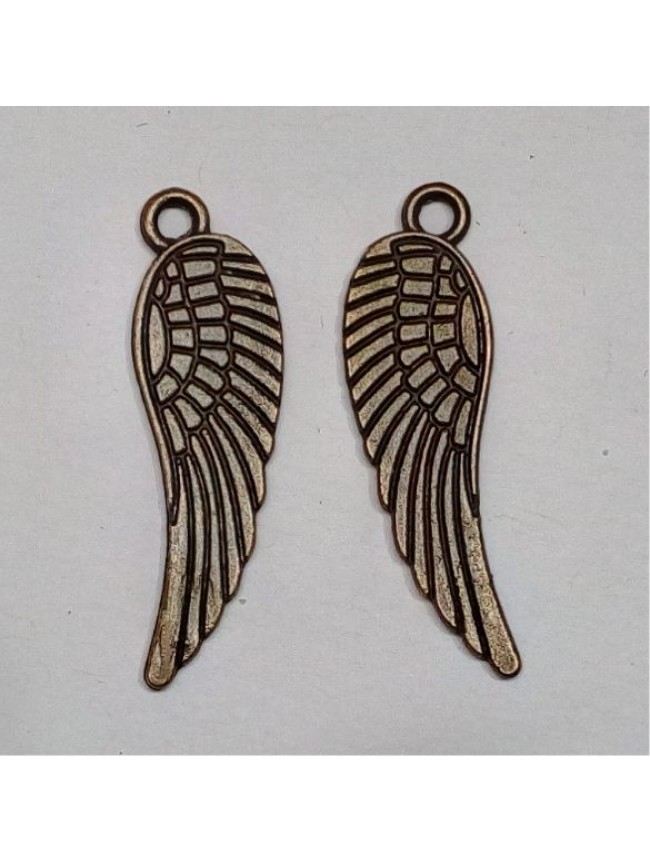 Metal charm-angel wings