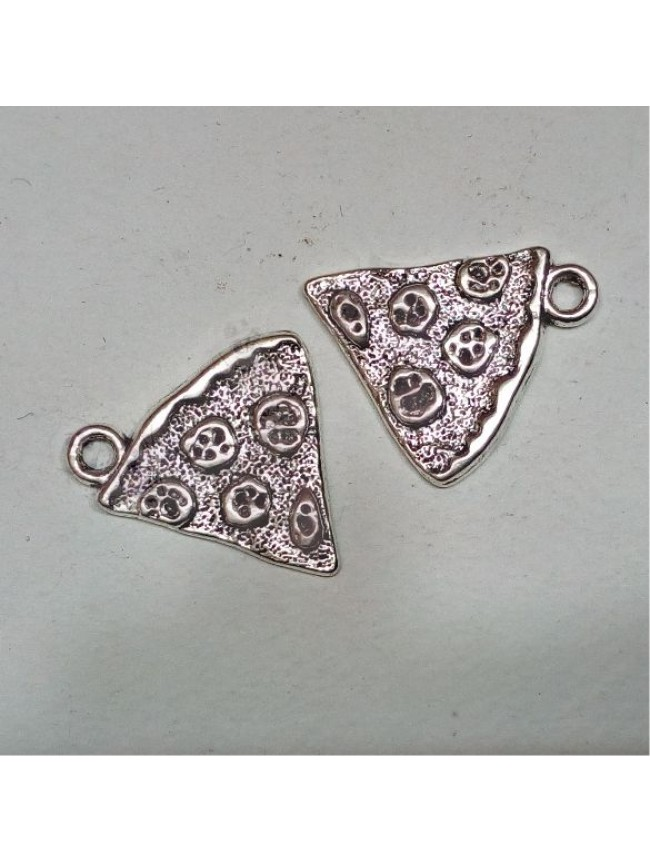Metal charm-pizza slice