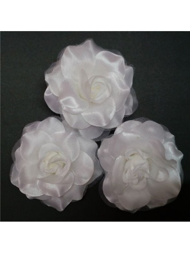 Fabric Rose BIG-SILVER