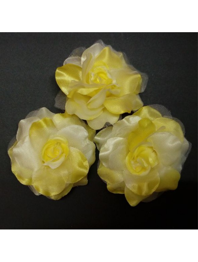 Fabric Rose BIG-YELLOW