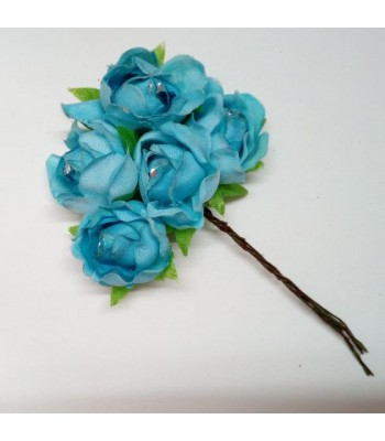 Fabric Rose-SKY BLUE