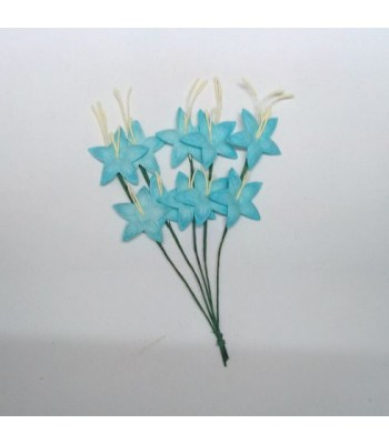 Star flower-DISTRESSED BLUE