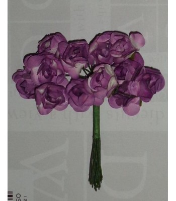 Mulberry Roses-distress purple