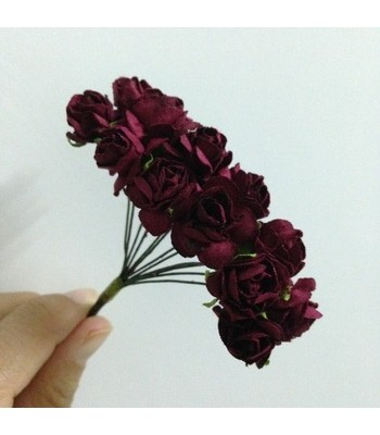 Mulberry Roses-Maroon