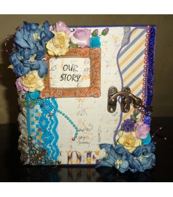"Premade ""love"" scrapbook album"