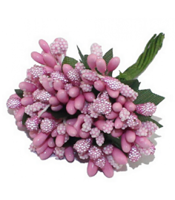 Crystal beaded pollens-Pink