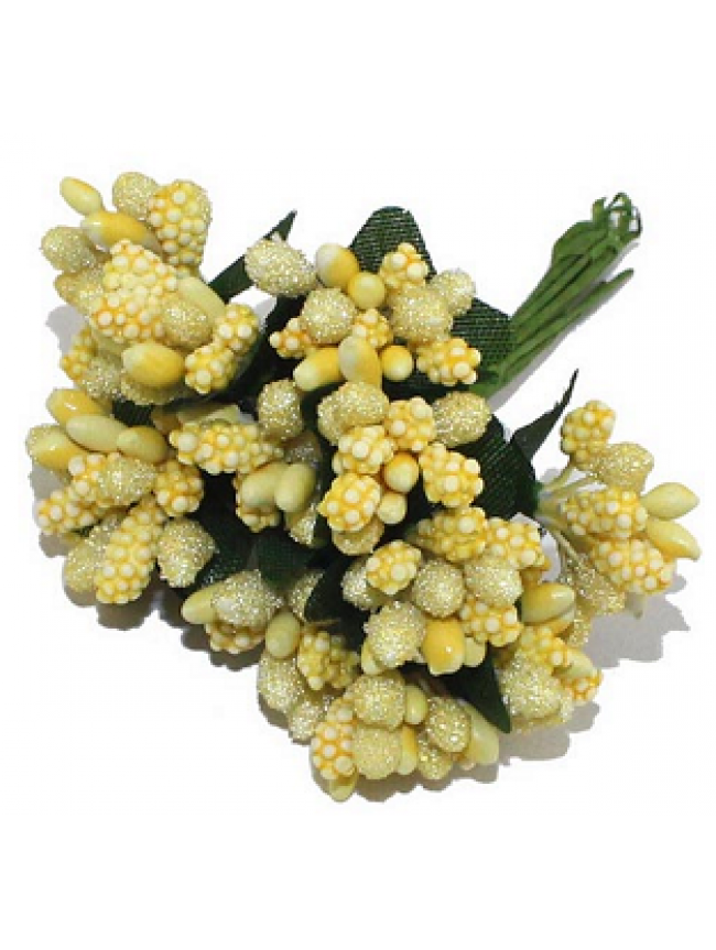Crystal beaded pollens-Yellow