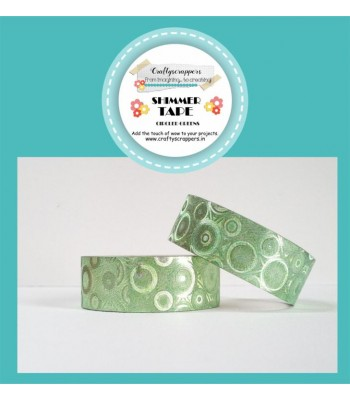 SHIMMER TAPE- CIRCLED GREENS