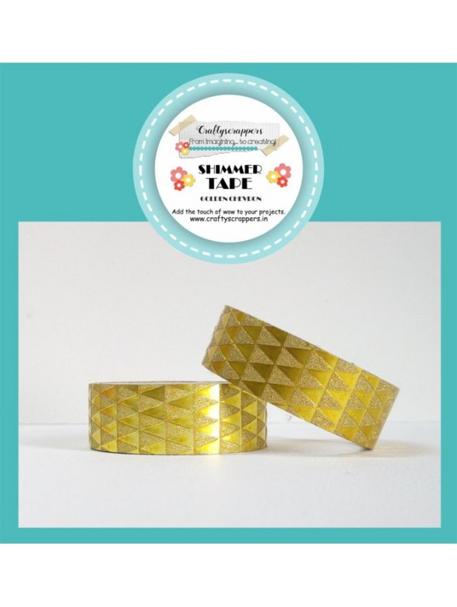 SHIMMER TAPE- GOLDEN CHEVRON