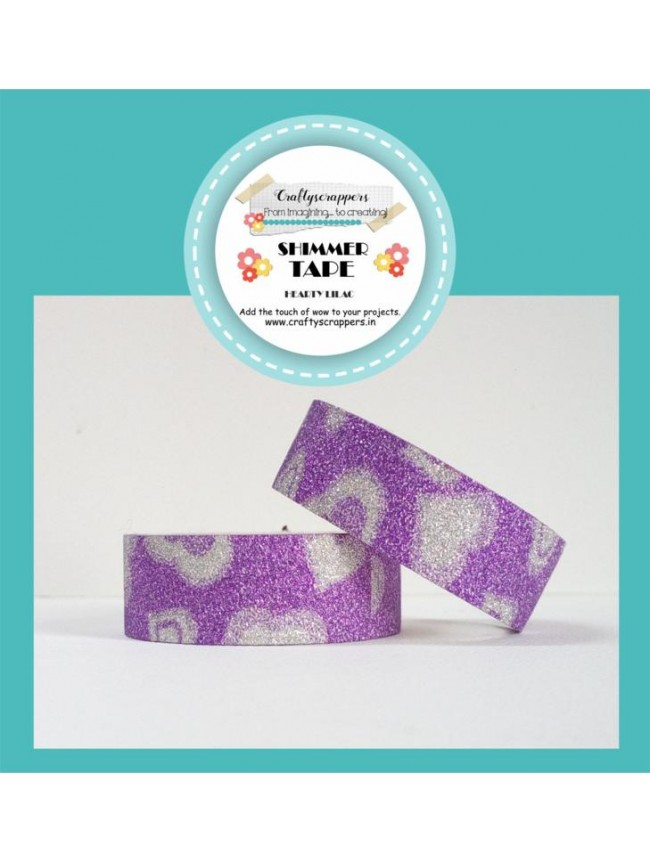 SHIMMER TAPE- HEARTY LILAC