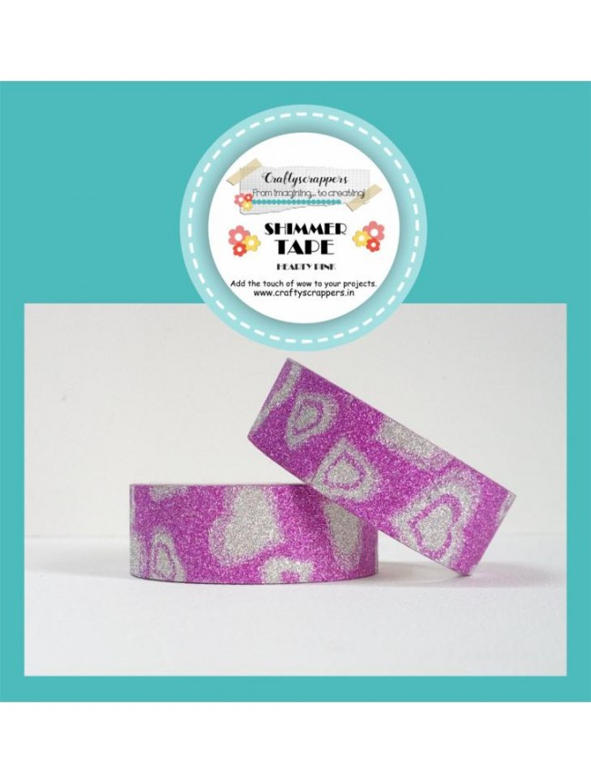 SHIMMER TAPE-HEARTY PINK