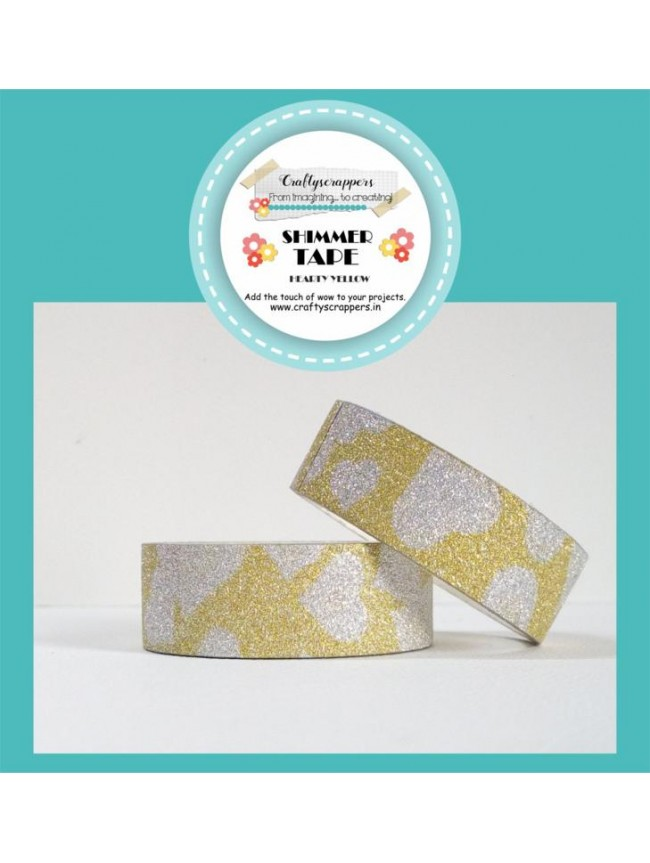 SHIMMER TAPE- HEARTY YELLOW